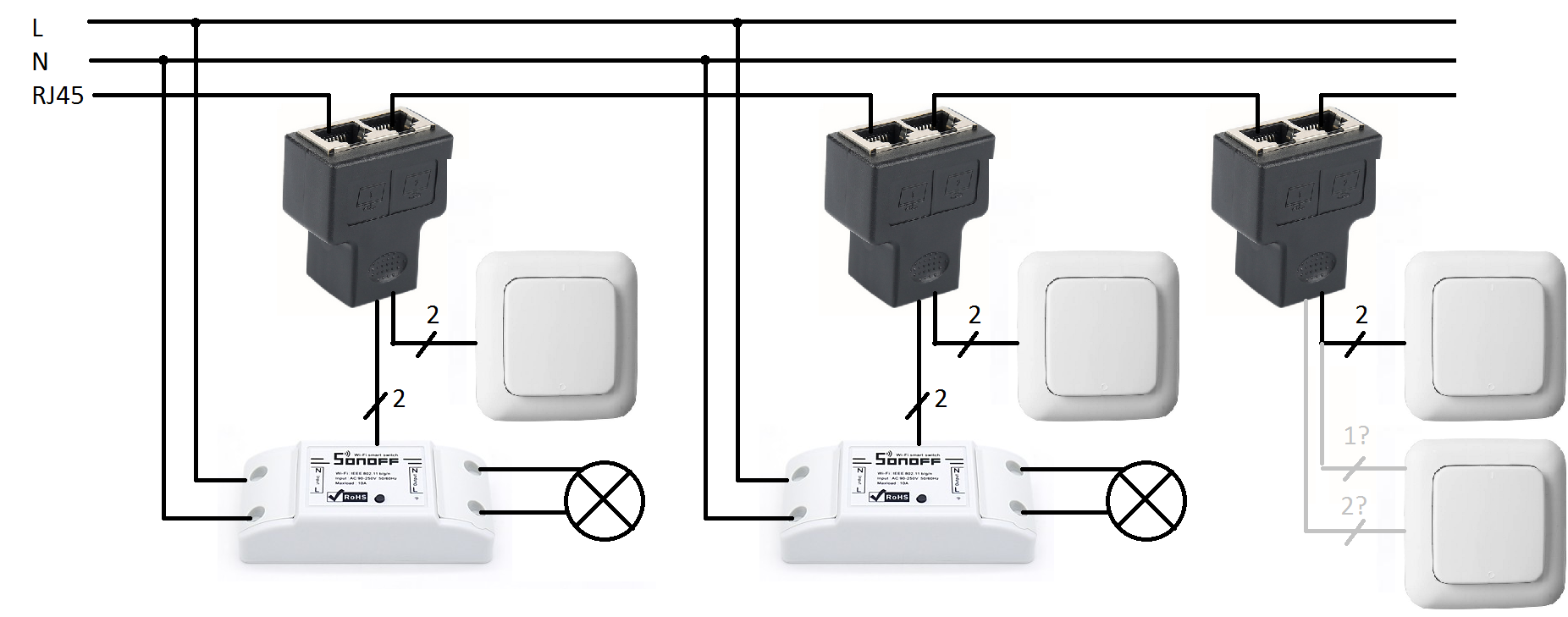 Datenkabel für das schalten von Sonoffs? - TASMOTA Firmware