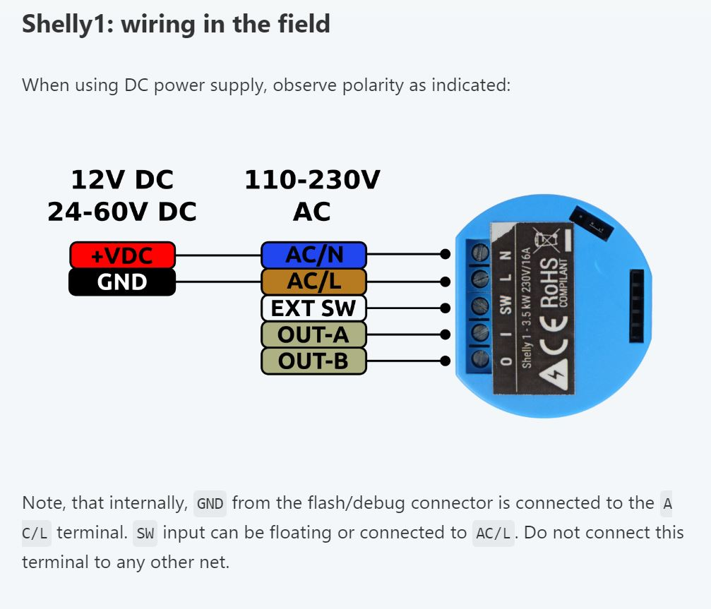 shelly 1 - open source wi-fi switch - shelly 1