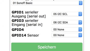 Sonoff Basic und BME280 Sensor - TASMOTA Firmware