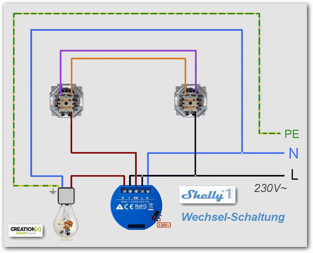 wechselschaltung smart home wiring diagram