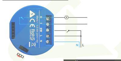 Bekannt Shelly 1 mit (Wechsel-)Schalter mit Kontrollleuchte - Shelly 1 TW99