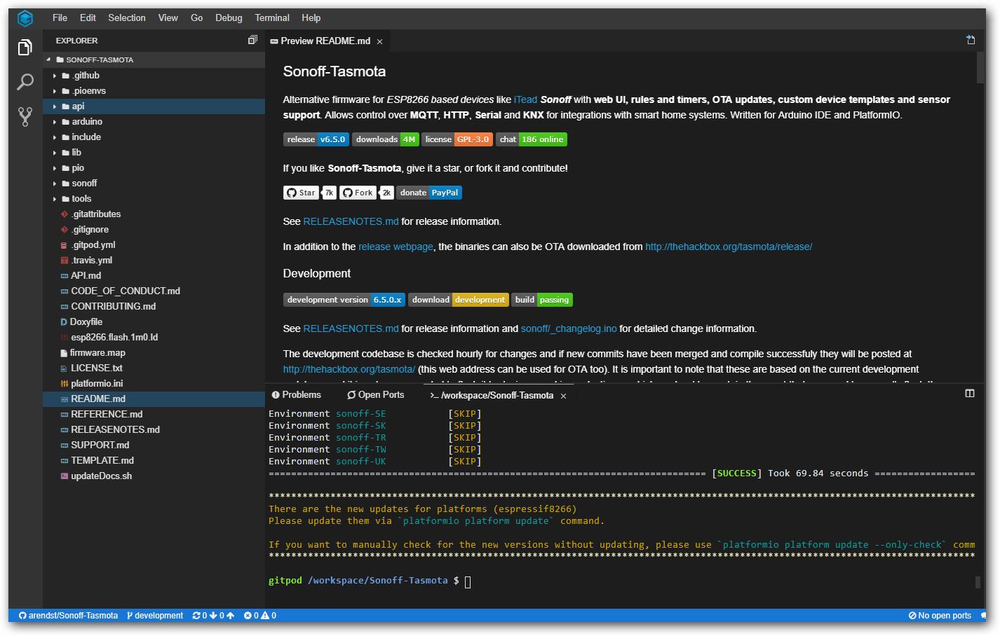 TasmoCompiler - Tasmota Compiler - Online eigene  bin