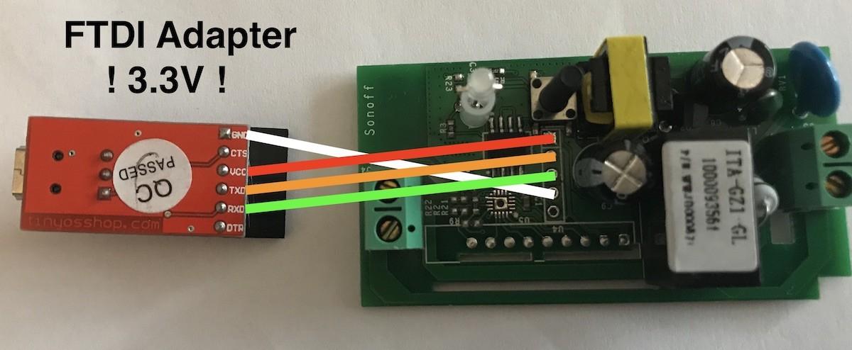 Sonoff Rf R2 Power V1 4 Flash-modus F U00fcr Tasmota Per Ftdi232 - Sonoff Basic  U0026 Rf